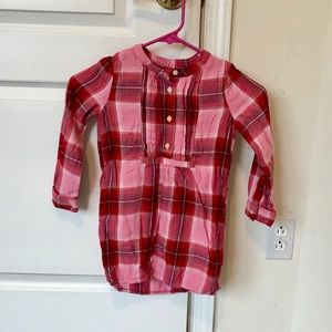 Gap girls XS flannel dress